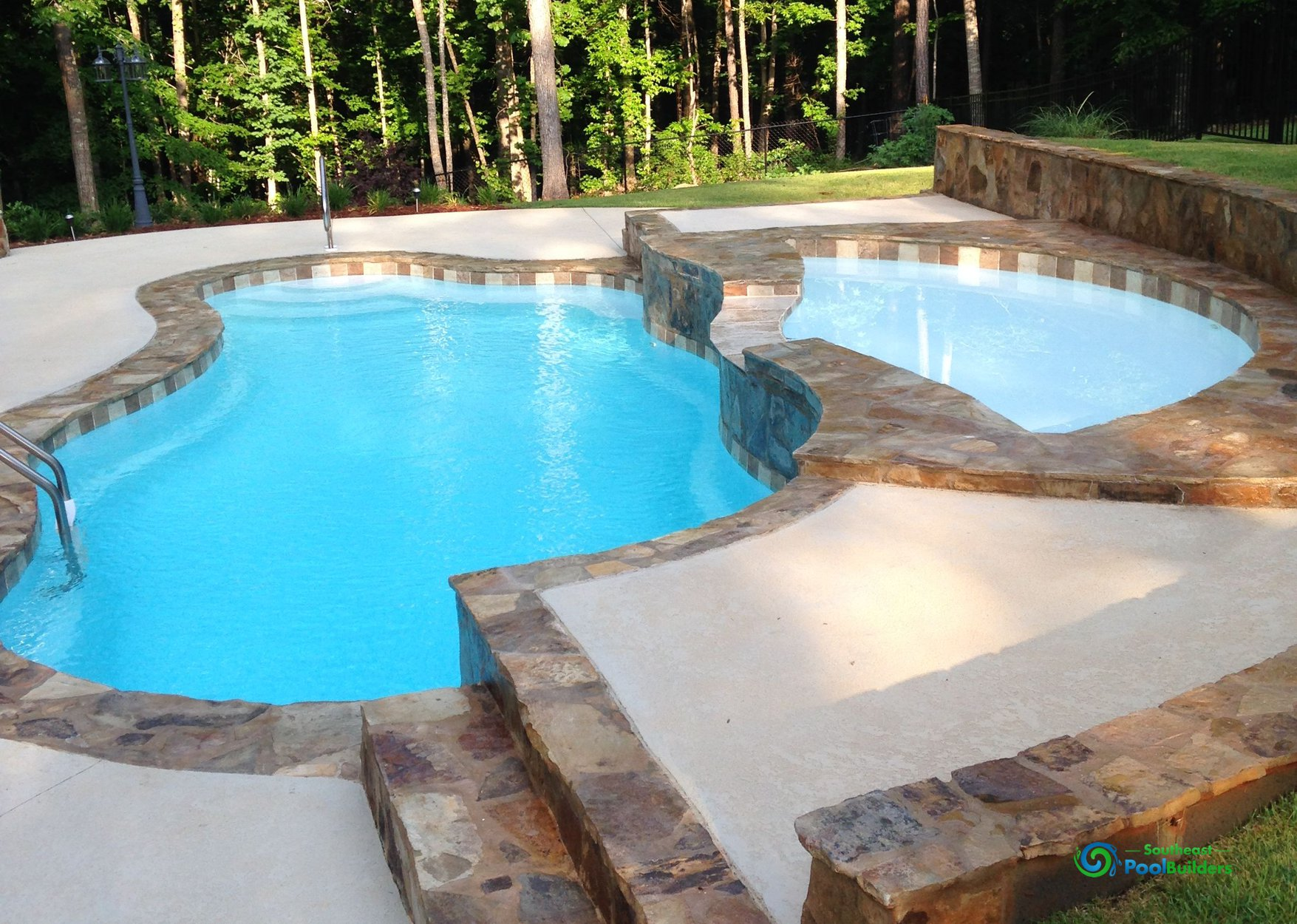 Concrete pools custom pool builder central alabama for Concrete pool construction